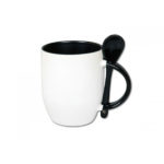 Scoop Mug black with spoon stormsky graphics
